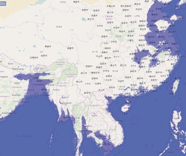 海面上昇_アジア_浸水状況