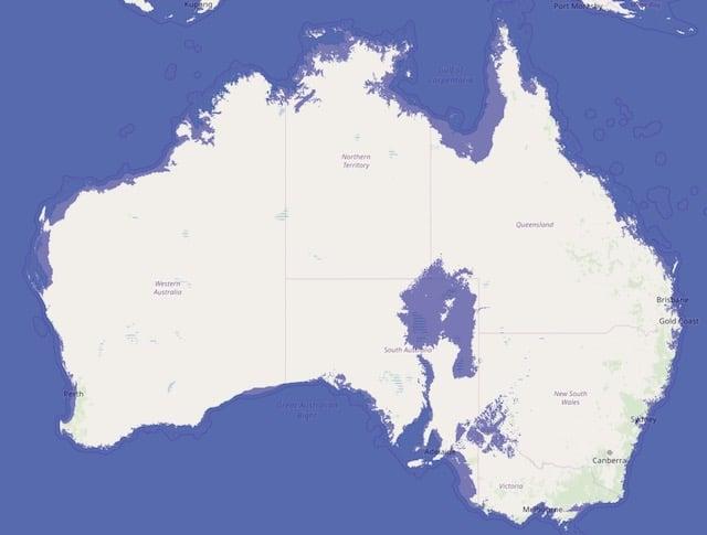 海面上昇_オーストラリア_浸水地域